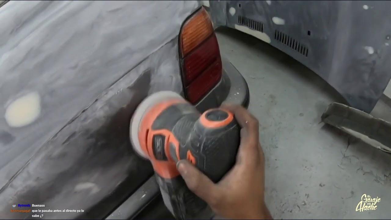 Día 7 -  MASILLA AL VANO MOTOR Y COSTADO - PINTURA del BMW E36 turbo!!! *EL SAABLE*!🚙