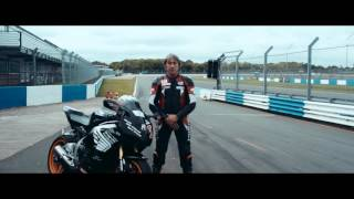 Carole Nash introduces the Ron Haslam Experience at Motorcycle Live