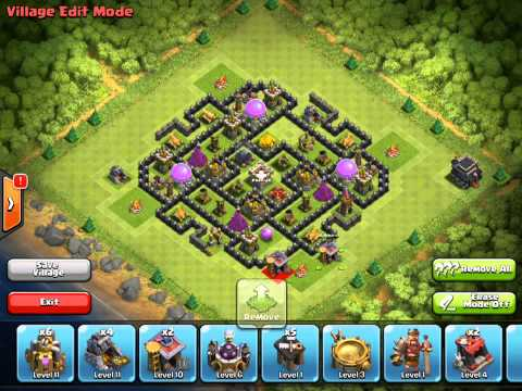 Clash of Clans Halloween Update - Village Edit Mode