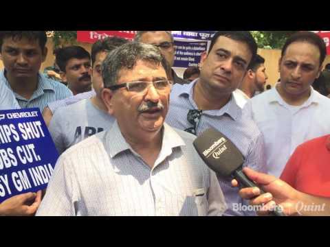 General Motors India Dealers Protest In New Delhi