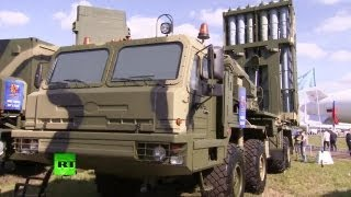 RT - S-350E Vityaz Air Defense Missile System Static Display + Miscellaneous At MAKS 2013 [720p]