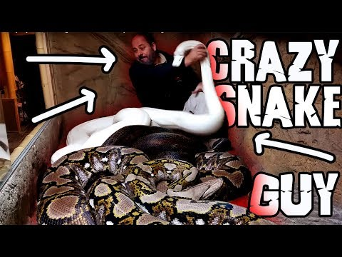 Crazy Jay Brewer #LivingTheDream  attacked by one of his largest snakes