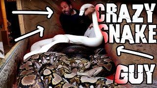 නයෙක් එක්ක සෙල්ලං දාන මිනිසෙක් - Crazy Jay Brewer #LivingTheDream with Pythons