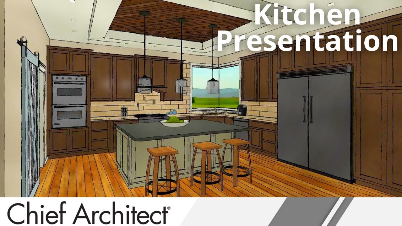 Kitchen Design Cabinets Examples Chief Architect X8 Kitchen Demonstation Youtube