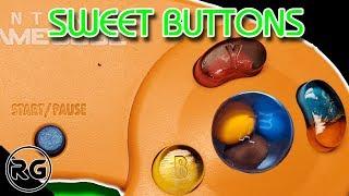 Gamecube Controller Mod - Halloween Candy Buttons