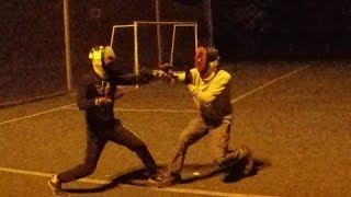 Спарринги школы ножевого боя Рать. Ученики
