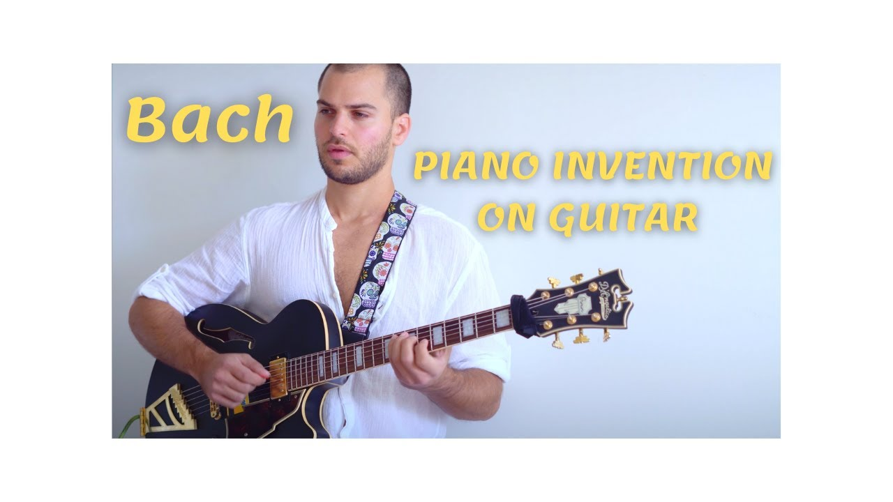 Bach Piano Invention No. 2 on Guitar