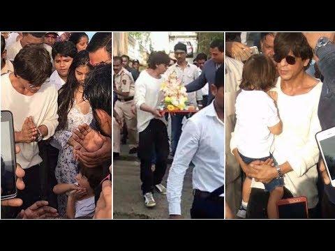 Shah Rukh Khan Ganpati Visarjan 2017 with his kids AbRam & Suhana Mp3