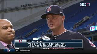Indians' Jay Bruce is relieved he doesn't have to face Corey Kluber, Carlos Carrasco