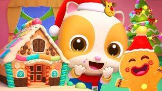 Download Christmas Gingerbread House | Christmas Songs | Nursery Rhymes | Kids Songs | Kids Cartoon | BabyBus Mp3 and Videos