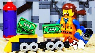 Lego Movie 2 TRAIN GYM MONEY FAIL Toy Animation