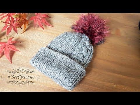 Схема вязания шапки спицами из толстой пряжи
