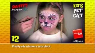 Cat Face Painting Make-up Tutorials for Children Thumbnail