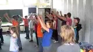 deken van hout de stoere jongens staan achter aan 2011 afscheid schoolkamp