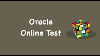 Oracle Mock Test, Oracle Online Test, Oracle Online Quiz | Mock Exam