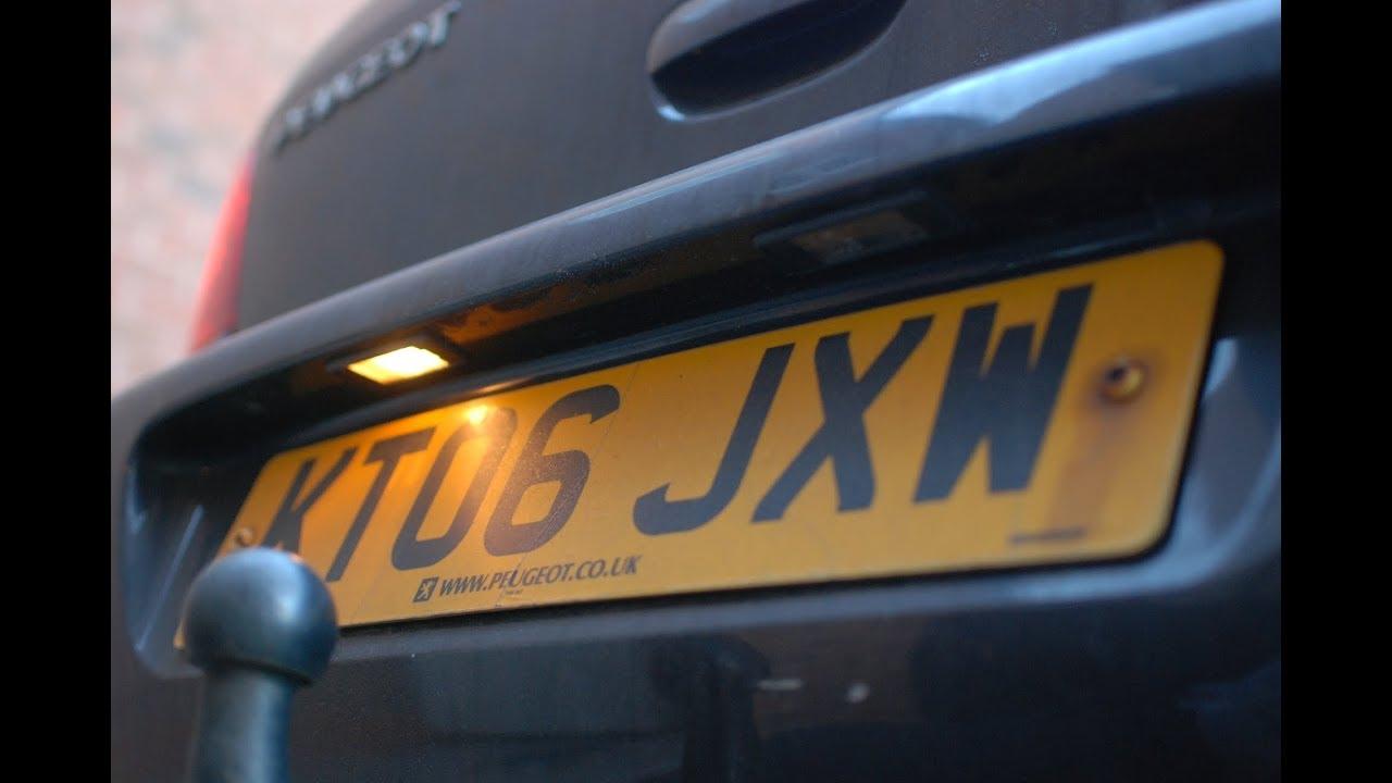 51 Wymiana Podświetlenia Tablicy Rejestracyjnej Peugeot Citroen