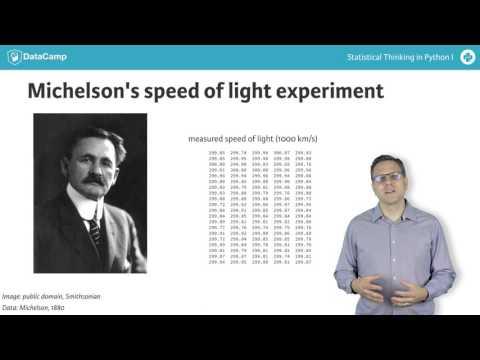 Python Tutorial: Statistical Thinking in Python I (Part 4