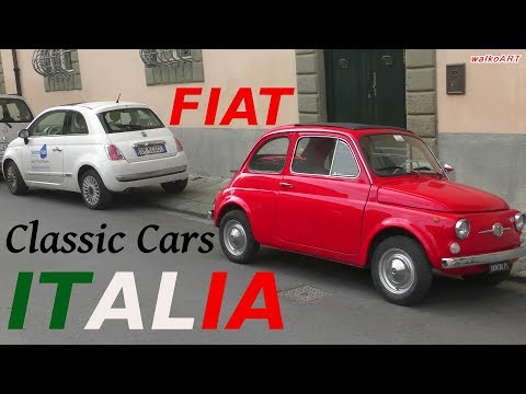 FIAT Italia Classic Cars 2018 On The Road 500, 128, 126, Uno, Cinquecento, Panda,  Brava, Multipla