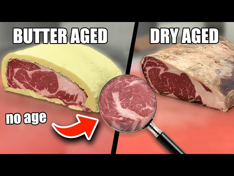 Butter Aged 🥩 VS Dry Aged 🥩 VS No Age 🥩 // 60 Day Butter Aged Ribeye Steak