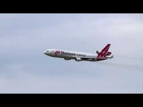 Martinair MD-11 fly-by at Royal Netherlands Air Force Open Day 2016