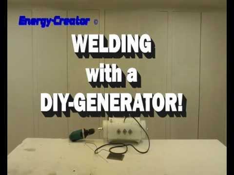 DIY PMG GENERATOR WELDING TEST