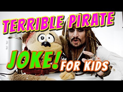 Another BAD PIRATE joke for KIDS with Capt'n Jack and Maynard