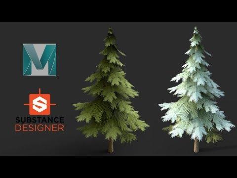maya-2019-and-substance-designer---stylized-tree