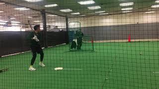 2019 Baseball Prospect Edward Javier Jr - Batting Practice