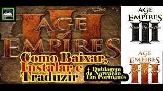 Como Baixar e  Instalar Age Of  Empires III - Complete Collection + Tradução e Dublagem em Pt-Br