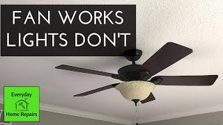 Hunter Fan Lights Don't Work | Quick Fix and No Parts Needed