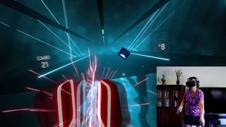 My Mom Playing Beat Saber