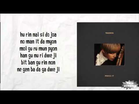 TAEMIN - Drip Drop Lyrics (easy lyrics)
