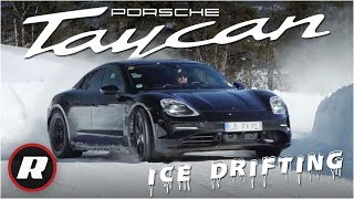 Ice drifting the Porsche Taycan: Driving the new all electric sports car