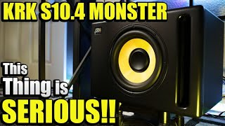 YOU NEED THIS SUB! | NEW KRK S10.4 SUBWOOFER REVIEW