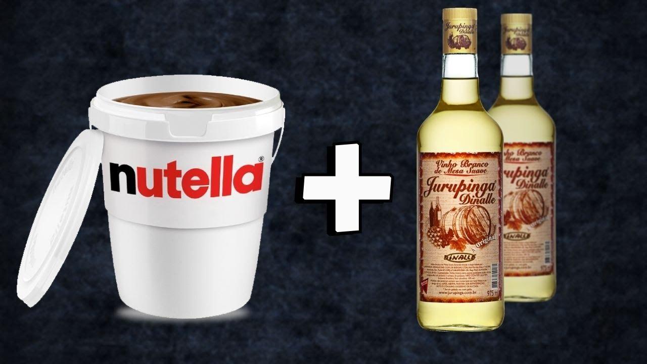 NUTELLA CONHAQUE E JURUPINGA - O melhor drink que você vai tomar.