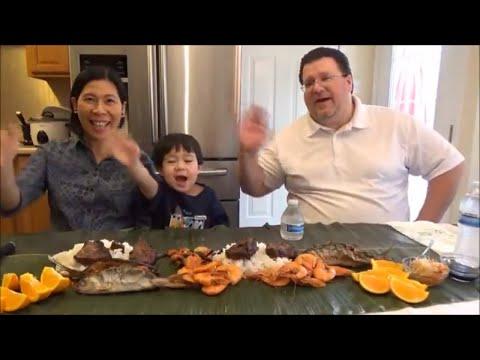 Boodle Fight| Eating Filipino Food | Making Filipino Food Mukbang