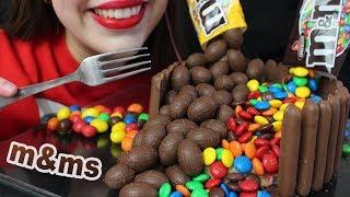ASMR M&Ms GRAVITY CAKE (EATING SOUNDS) No Talking MUKBANG 리얼사운드 먹방