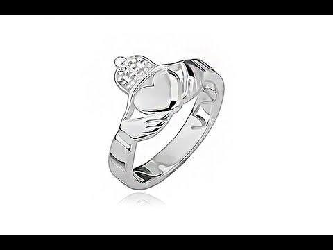 cad20c5c6 Strieborný prsteň 925 - srdce, ruky, korunka, výrezy po obvode | Šperky  Eshop