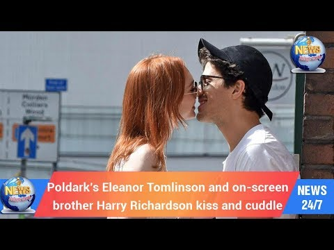 Today's World: Poldark's Eleanor Tomlinson and onscreen brother Harry Richardson kiss and cuddle
