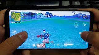 Test Game Fortnite Mobile on Samsung Galaxy S8+ Max Settings