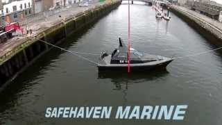 Self-righting capsize recovery test of Barracuda by her builders Safehaven Marine