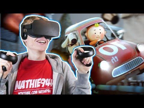 THIS VIRTUAL REALITY RACING GAME ROCKS!   Running Joe VR (Oculus Touch Gameplay)