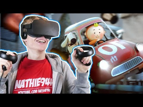 THIS VIRTUAL REALITY RACING GAME ROCKS! | Running Joe VR (Oculus Touch Gameplay)