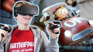 THIS VIRTUAL REALITY RACING GAME ROCKS! | Running Joe VR (Oculus Touch Gameplay)