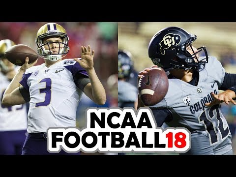 Washington @ Colorado - 9-23-17 NCAA Football 18 PRESEASON Simulation