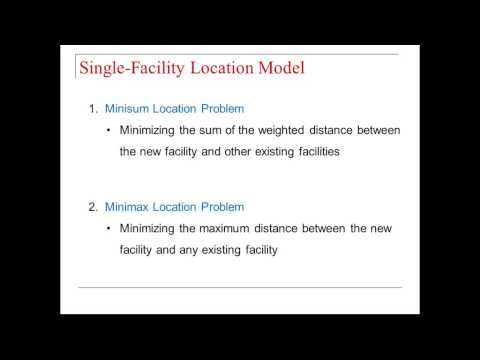 Lecture 12: Single Facility Location Problem