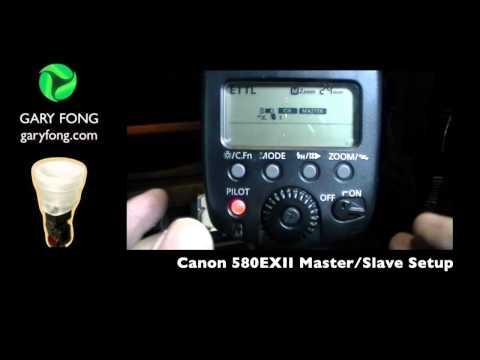 Canon 580exII - Setup for Master/Remote Trigger/Slave