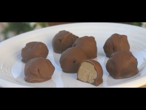 Easy Chocolate Peanut Butter Balls (Buckeyes). So Melt In Your Mouth! By Rockin Robin