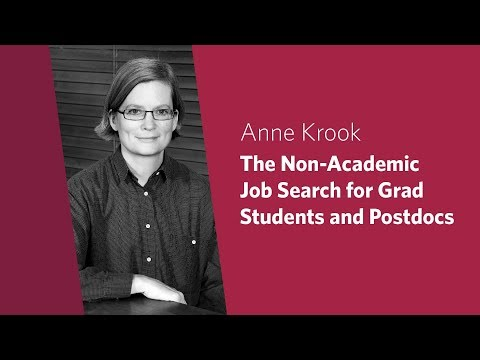 The Non-Academic Job Search for Graduate Students and Postdocs