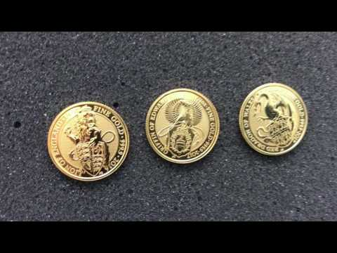 2017 Red Dragon of Wales Silver and Gold Coins